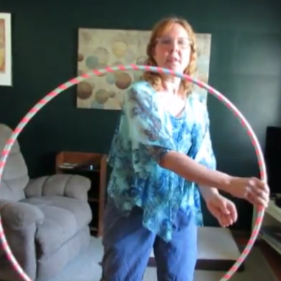 Simple hula hoop exercises for healthy energy