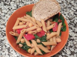 Penne pasta with chickpeas