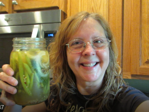 Jen with dilly beans